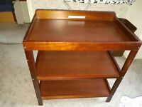 Solid wood baby changing table, have some scratches but still solid