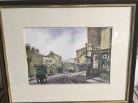Original Watercolour by Ben Harris local Welsh Artist Abersychan 1910 H13in/33cmW16in/40.5cm