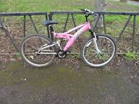Ladies Full Suspension Mountain Bike. Very Comfy Ride. Fully Serviced & Ready To Ride. Guaranteed.