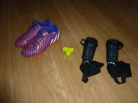 Buy Boys / Girls Adidas Football Boots uk 4.5 & get Shinguards / pads for FREE!