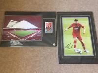 Signed football prints