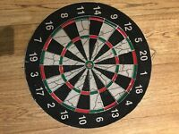 17 inch Double sided Dartboard Still in good condition. Used