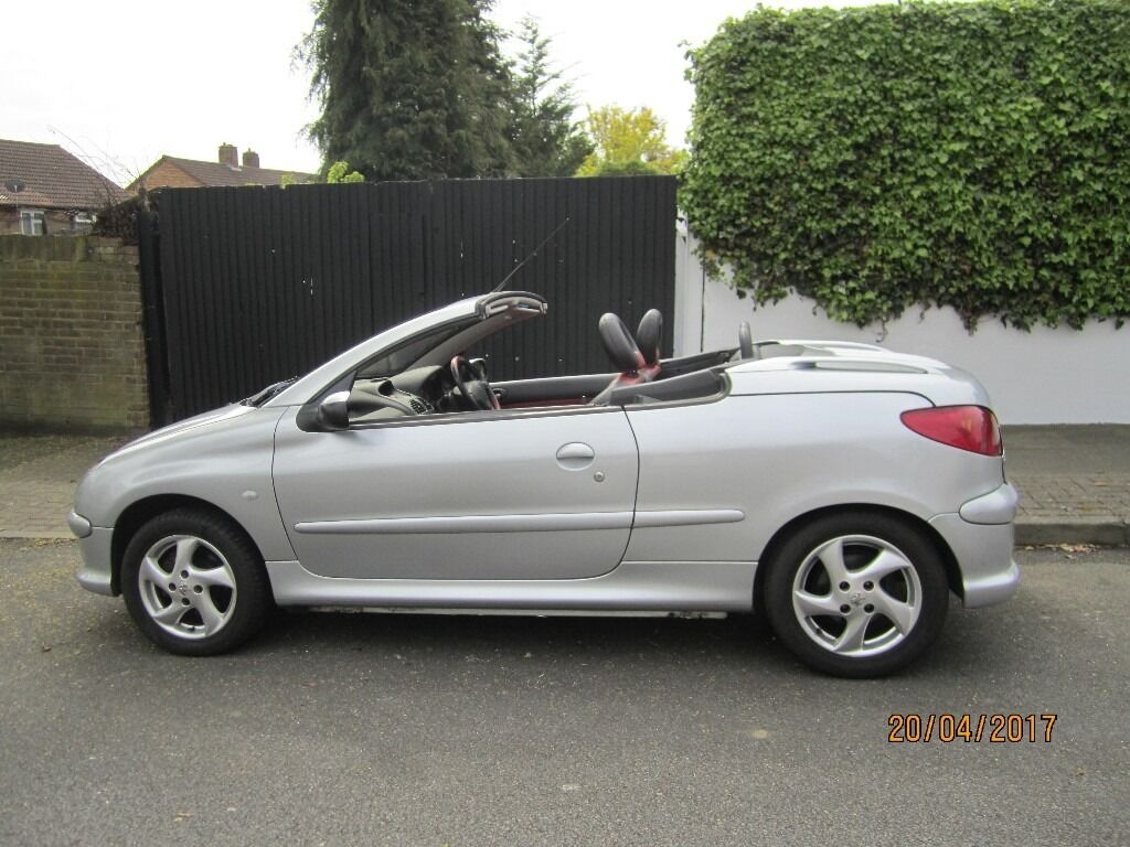 peugeot 206 cc 1 6 petrol manual silver a c 9 mts mot in. Black Bedroom Furniture Sets. Home Design Ideas