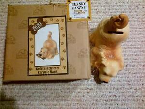 Ceramic Dog Bank (brand new, never used)