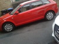 AUDI A3 SPECIAL EDITION TDI RED HPI CLEAR £2600 qick sale