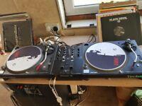 Pioneer Technics 1210 MK3 and Pioneer DJM 250MK2 Mixer Full Vinyl and DVS setup