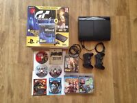 PS3 500GB, 2 gamepads, Gran Turismo 6, The Last of Us and more great games