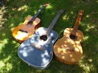 3 guitars for parts or as decoration