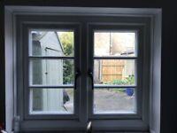White x2 cottage windows/1 Sash window