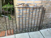 Wrought iron gate 46 in wide x 39 in tall Good condition