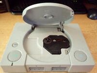 PLAYSTATION ONE WITH 9 GAMES
