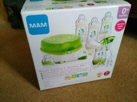 Mam breastfeeding kit 0+ brand new