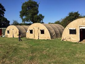 Military Shelter Tent Marquee Camping Nissen Hut Army Ex 26 x 20 x 10ft Events Pre Fab Building