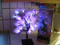 56 LED Fibre Optic multi-coloured flower tree window display lights Christmas