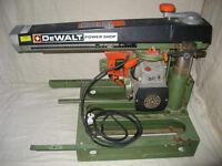 Dewalt DW 125 power shop radial arm saw