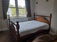 Double bed frame and king size wooden frame