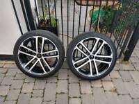 "GENUINE VW Golf Nogaro 18"" Alloy Wheels & Tyres"