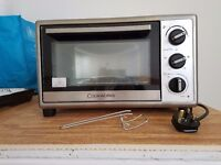 Electric portable oven with timer