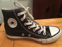 Black high top genuine converse all stars size 3.5