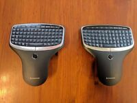 2 x Lenovo multimedia remotes with built in keyboards, N5902