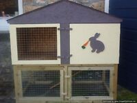 rabbit/guinea pig hutch two storey in lavender