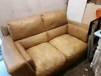 Well Loved 2 seat leather sofa