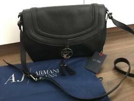 Original Armani Jeans leather side bag