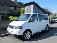VW Transporter Campervan Teahupoo Conversion 2009, MOT 08/17 , Leather interior, 4 Berth,