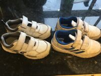 Boys trainers sizes 10.5 Clark's, and 11 Adidas Excellent condition, only worn a few times