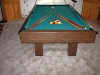 Reduced Billiards/Pool Table 4.5 x 8 feet incl. Many Accessories