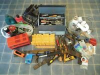 Job lot Mixed Collection of tools and plumbing, electrical and car supplies
