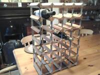 WINE RACK wood and metal