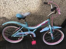 """Silver fox girls bike with 18"""" wheels only £15 no offers"""