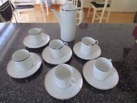 Thomas Coffee Pot and 6 Cups and Saucers