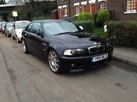 BMW e46 m3 manual coupe black/blue