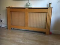 Wooden effect radiator cover
