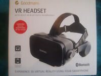 Goodmans VR Headset With Bluetooth Headphones