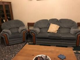 1 settee and 1 armchair FREE