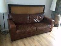 Delcor Boxter 3 seat brown leather sofa