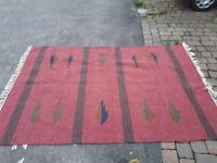 Large Vintage Aztec Indian Rug, Brand New