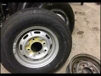 new 185 13 tyre trailer caravan van heavy duty 750kg spare wheel rim