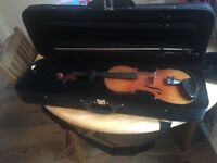 Lovely german violin, estimated 1880's or earlier. Sold with case and bow.