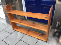 Pine Bookcase - free local delivery feel free to view size L 49in D 9 in H 38 in