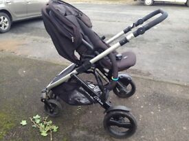 Britax b dual stroller with second seat black good condition