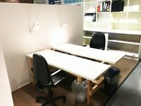 FLEXIBLE DESK SPACE , £250 per month all in, SUPERFAST internet, Shoreditch