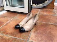 LK Bennett Ladies shoes, not worn. Beige and black size 6. Slightly too small.