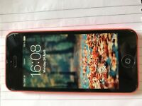 Pink iPhone 5c smashed screen