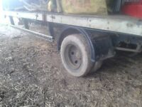 Lorry converted trailer