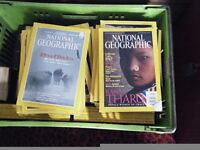 National geographic magazines in book covers full volumes very good condition