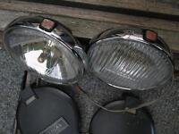 Pair Vintage LUCAS Lamps....Spot and Fog lights